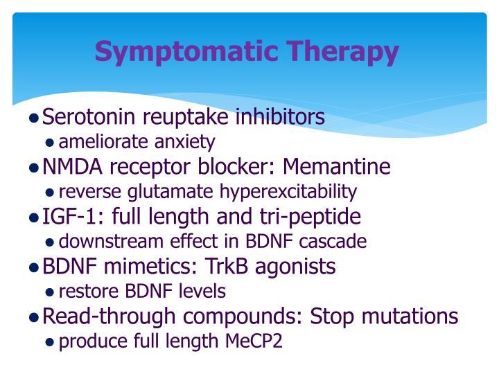 Symptomatic Therapy