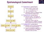 epistemological commitment1