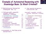 example of automated reasoning with knowledge base is west criminal1