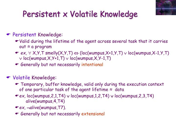 Persistent x Volatile Knowledge