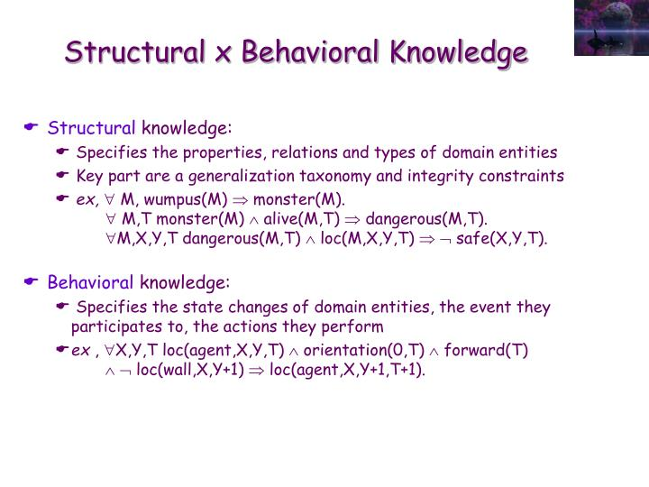 Structural x Behavioral Knowledge