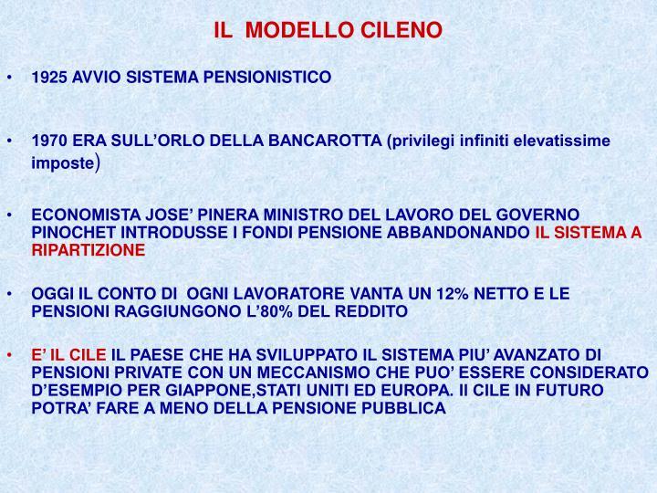 IL  MODELLO CILENO