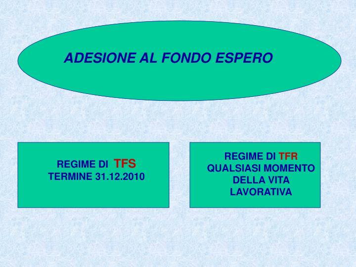 ADESIONE AL FONDO ESPERO
