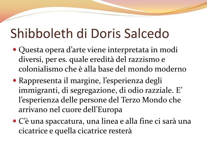Shibboleth di Doris Salcedo