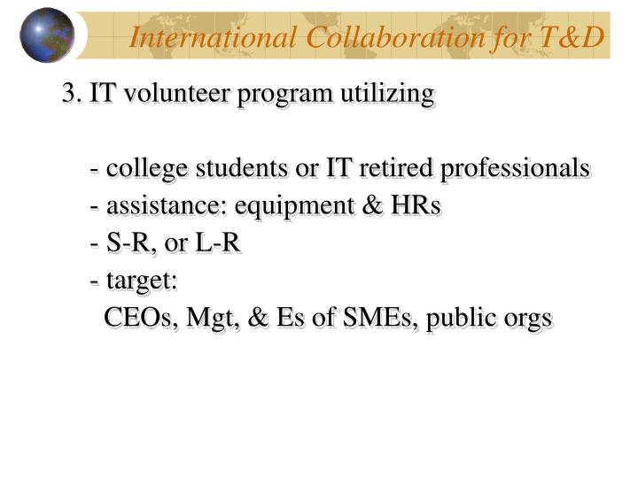 International Collaboration for T&D