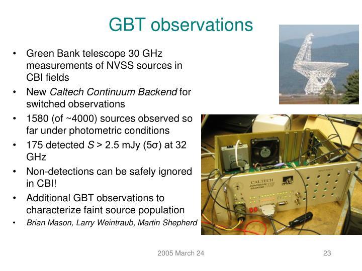 GBT observations