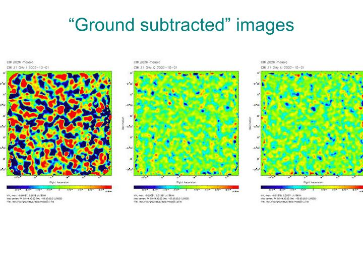 """Ground subtracted"" images"