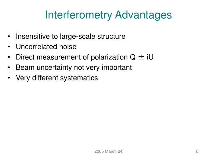 Interferometry Advantages