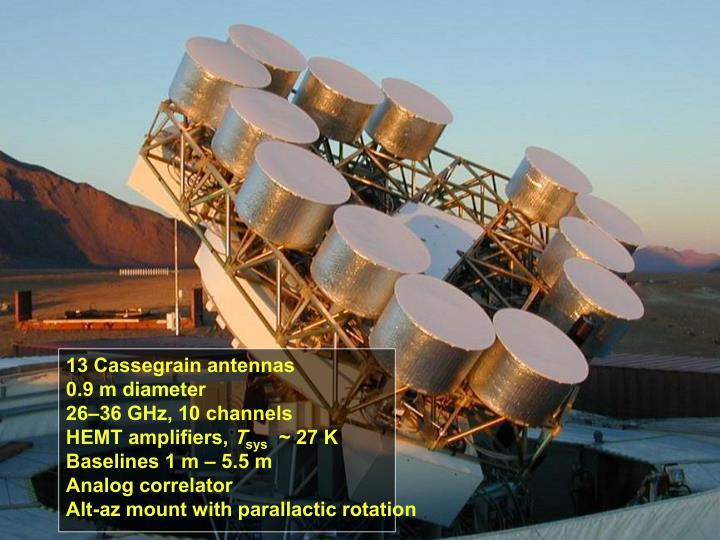 13 Cassegrain antennas
