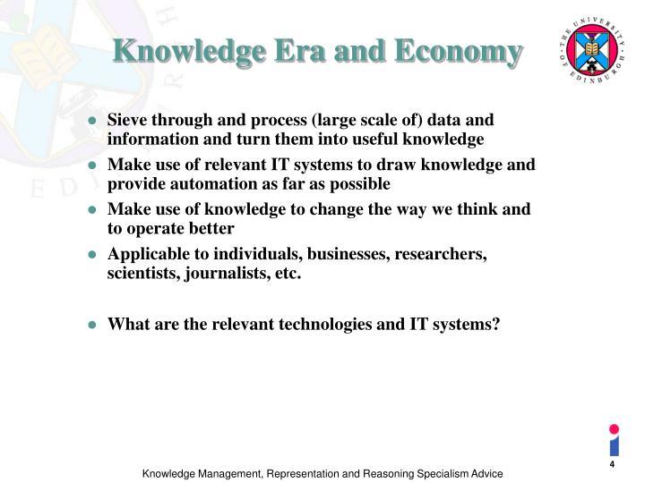 Knowledge Era and Economy