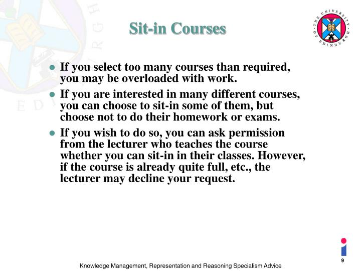Sit-in Courses