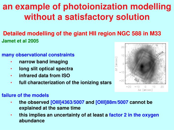 an example of photoionization modelling without a satisfactory solution