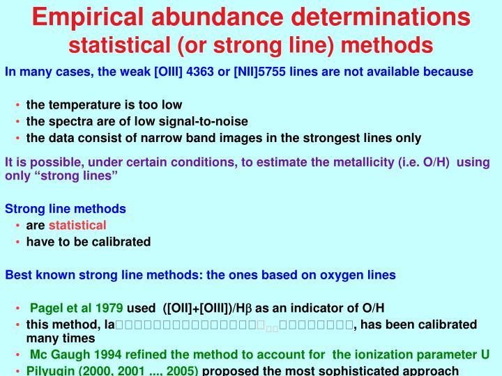 Empirical abundance determinations