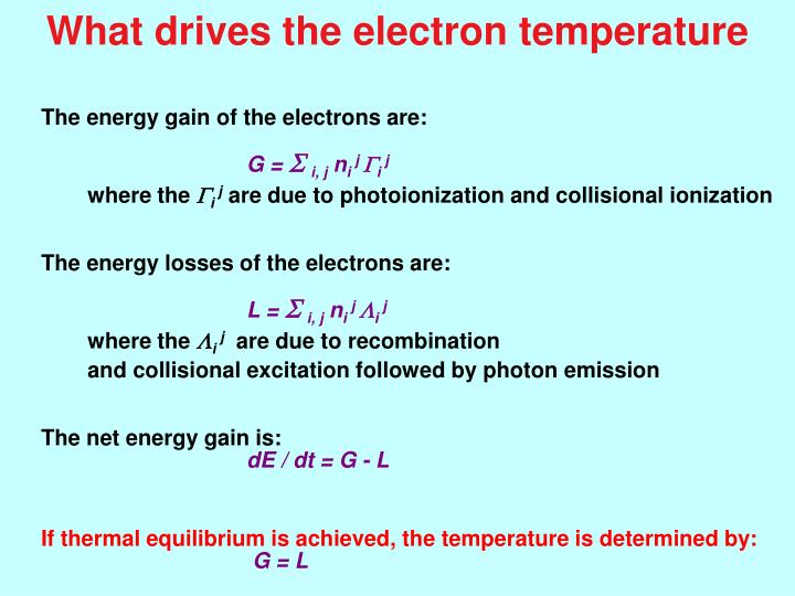 What drives the electron temperature