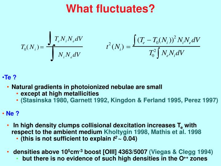 What fluctuates?