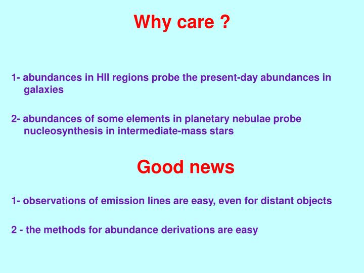 Why care ?