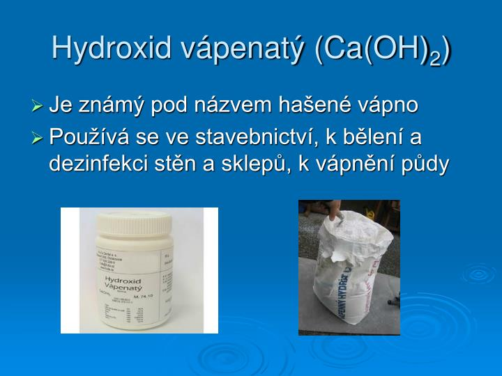 Hydroxid vápenatý (Ca(OH)