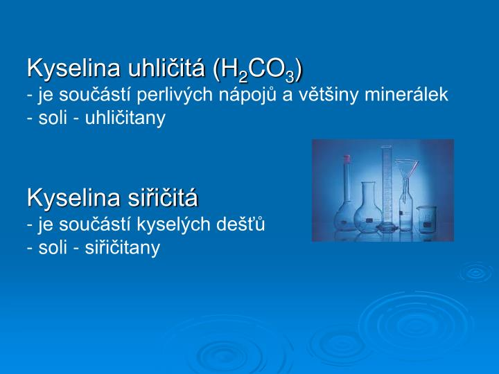 Kyselina uhličitá (H