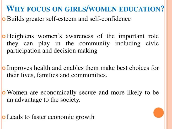 Why focus on girls/women education?