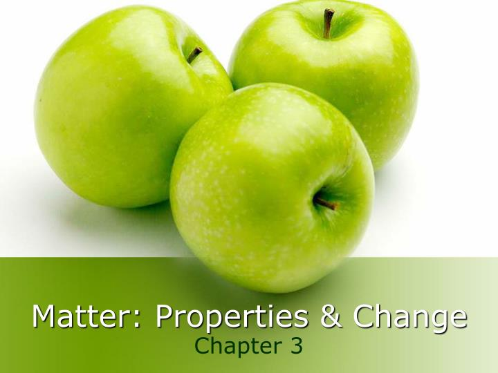 matter properties change