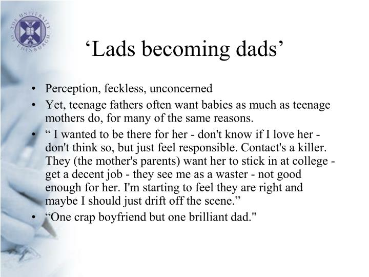 Lads becoming dads