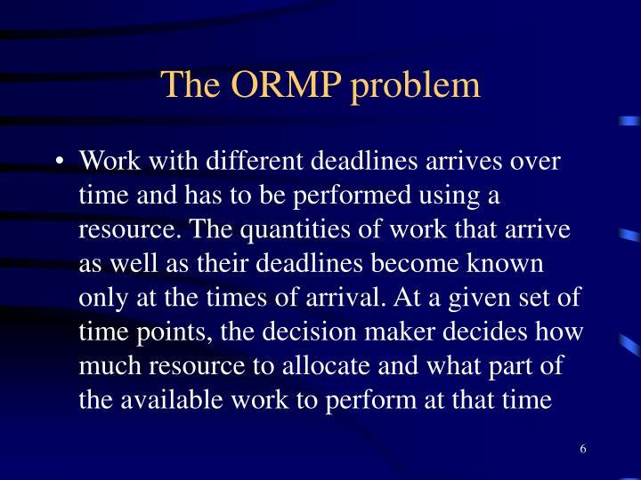 The ORMP problem