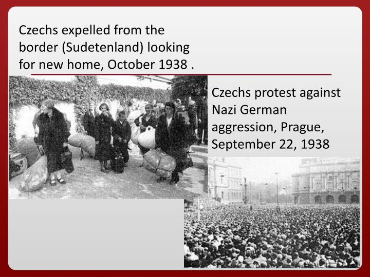 Czechs expelled from the border (Sudetenland) looking for new home, October 1938 .