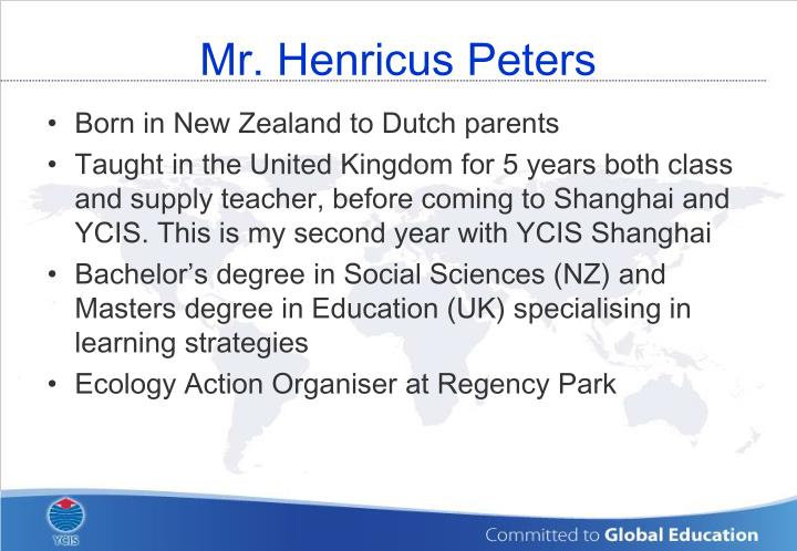 Mr henricus peters