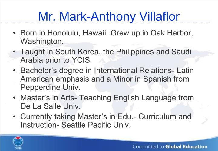 Mr. Mark-Anthony Villaflor
