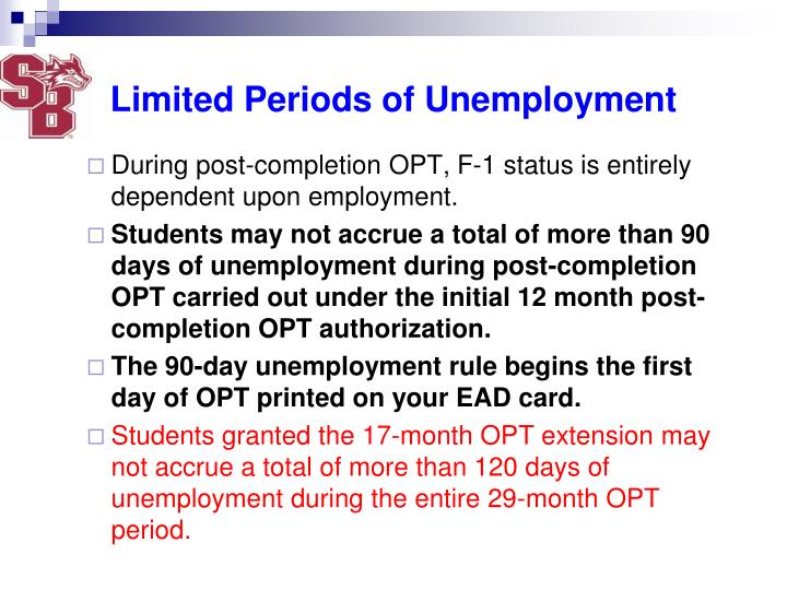 Limited Periods of Unemployment