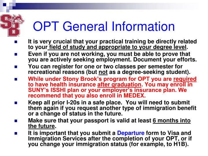 OPT General Information