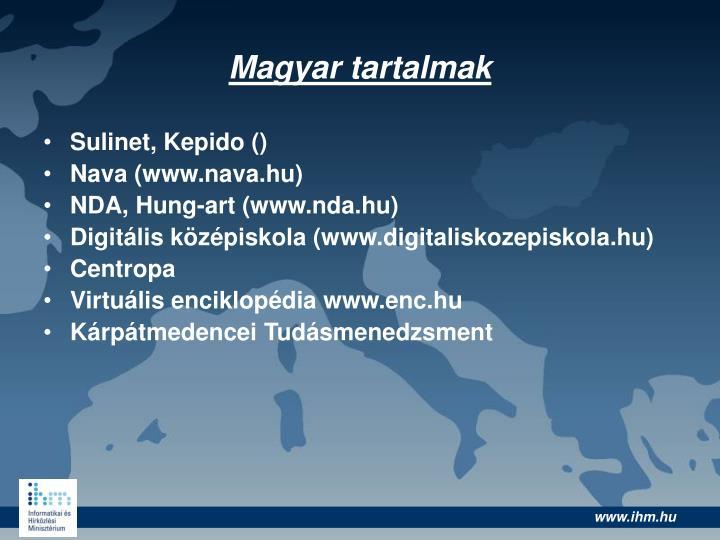 Magyar tartalmak