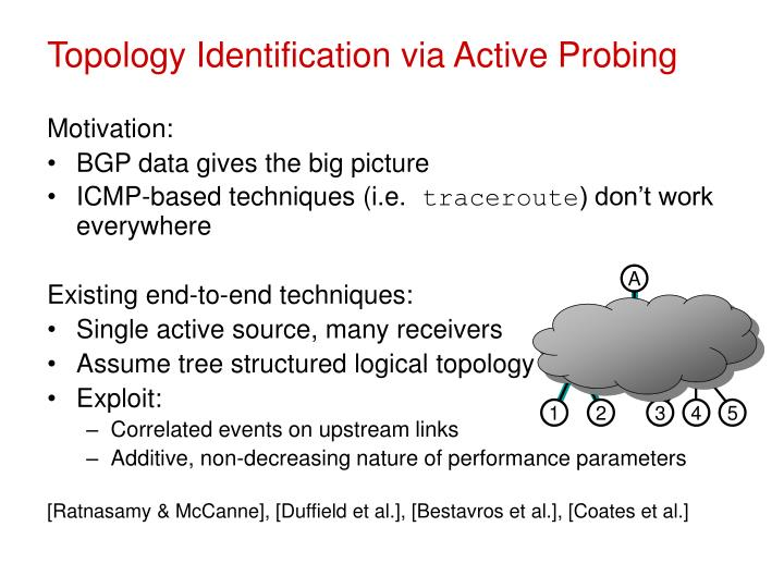 Topology identification via active probing