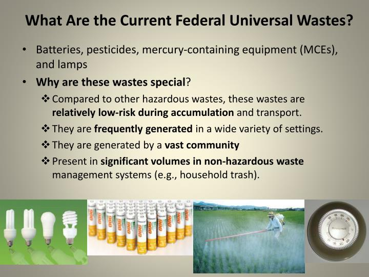 What Are the Current Federal Universal Wastes?