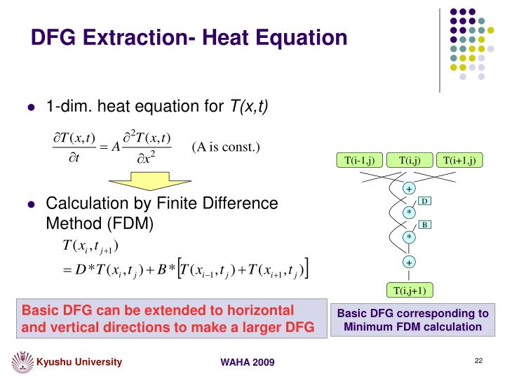 DFG Extraction- Heat Equation