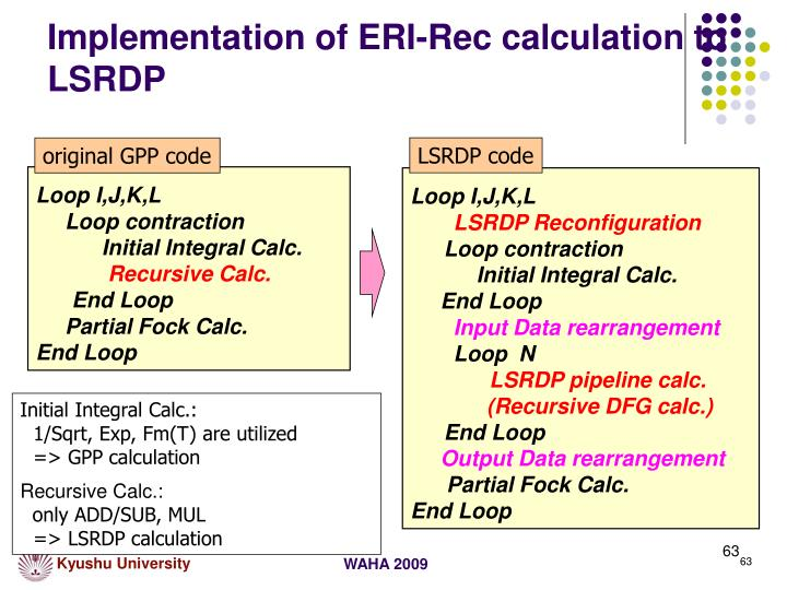 Implementation of ERI-Rec calculation to LSRDP