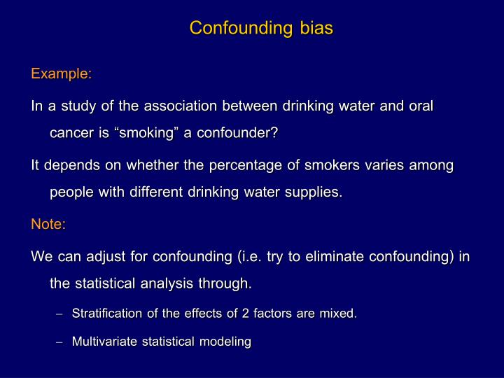Confounding bias