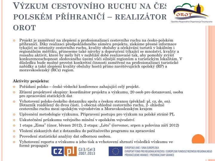 Výzkum cestovního ruchu na česko-polském