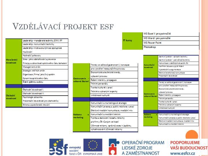 Vzdělávací projekt