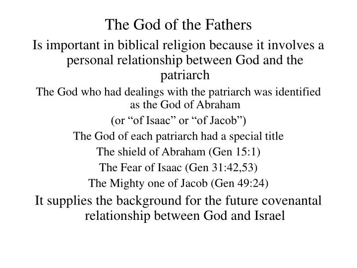 The God of the Fathers