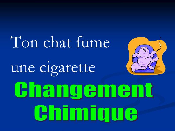 Ton chat fume
