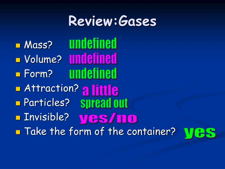 Review:Gases