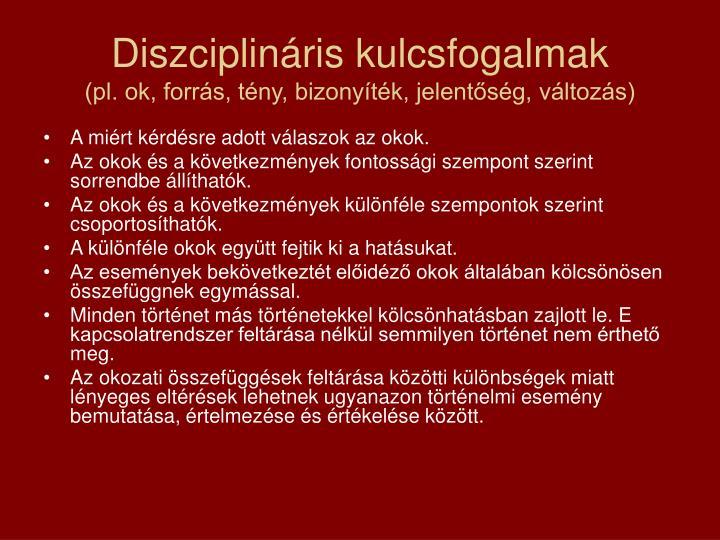 Diszciplináris kulcsfogalmak