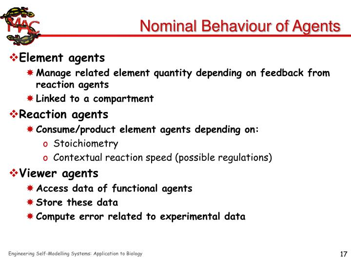 Nominal Behaviour of Agents