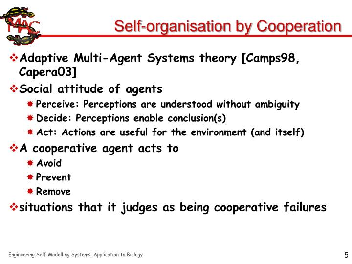Self-organisation by Cooperation