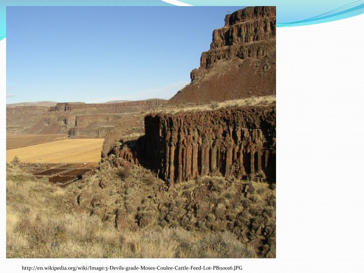 http://en.wikipedia.org/wiki/Image:3-Devils-grade-Moses-Coulee-Cattle-Feed-Lot-PB110016.JPG