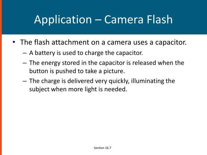 Application – Camera Flash