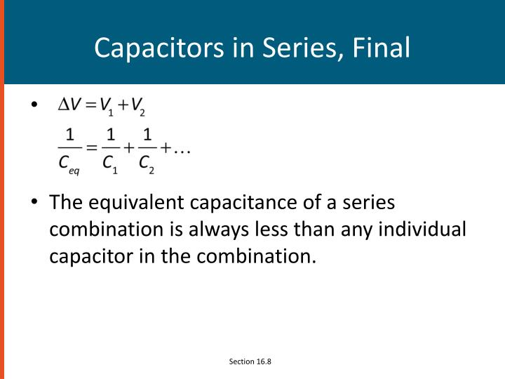 Capacitors in Series, Final