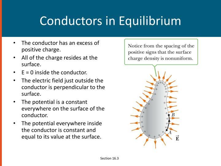 Conductors in Equilibrium