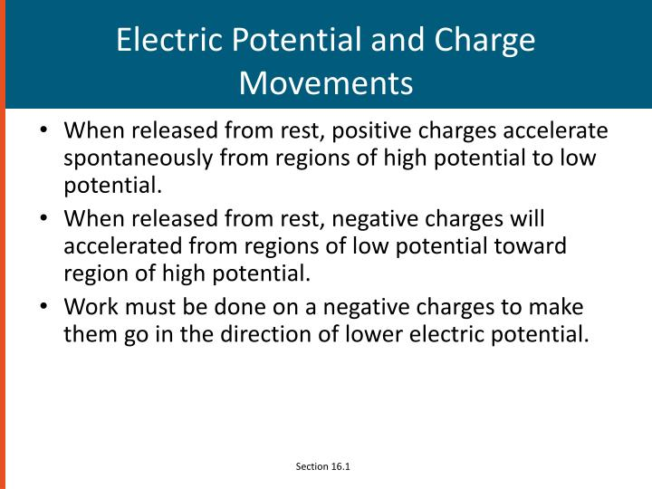 Electric Potential and Charge Movements
